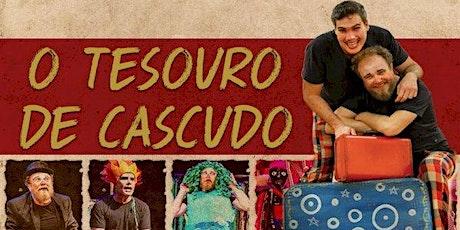"""Desconto por apenas R$ 16,00! Espetáculo """"O Tesouro do Cascudo"""" no Teatro West Plaza ingressos"""