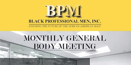 BPM General Body Meeting tickets