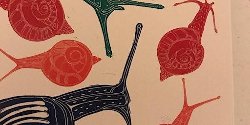 Lino Print Fabric
