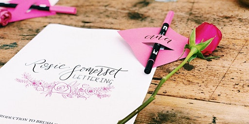 Beginners Modern Brush Calligraphy workshop with Rosie Somerset Lettering