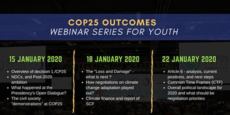 COP25 Outcomes Webinar Series for Youth tickets