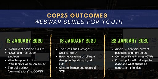 COP25 Outcomes Webinar Series for Youth