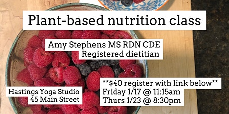 Plant-based nutrition class tickets