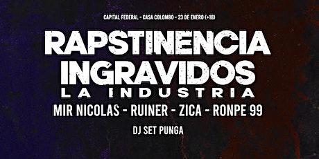 Rapstinencia + Ingravidos La Industria - CABA - 23 de ENERO (+18) entradas