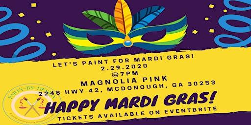 MARDI GRAS PAINT & SIP PARTY