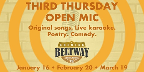Beltway's Third Thursday Open Mic tickets