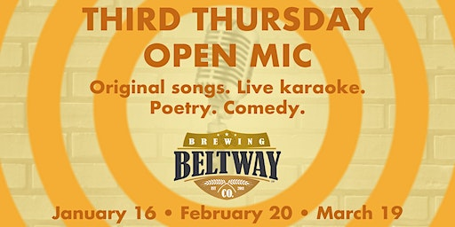 Beltway's Third Thursday Open Mic