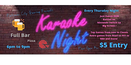 Platinum City Gaming Presents Karaoke Night Every Thursday tickets