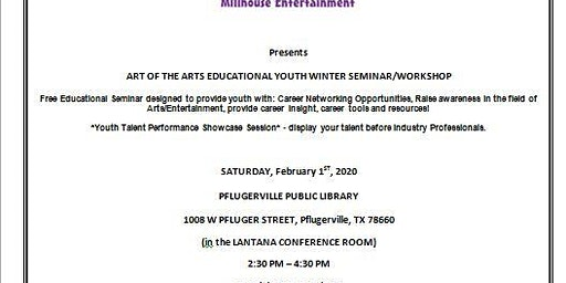 2020 Art of the Arts Educational Youth Winter Seminar