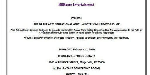 2020 Art of the Arts Educational Youth Winter Seminar