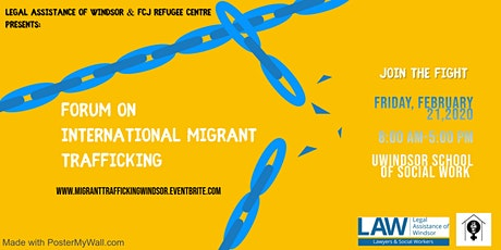 LAW & FCJ presents forum on International Migrant Trafficking   tickets