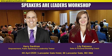 Motivational Speaker Training @ Speakers Are Leaders 4 April 2020 Morning tickets