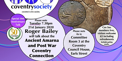 Coventry Society Meeting - Ancient Amarna and Post-War Coventry