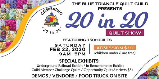 """The Blue Triangle Quilt Guild presents """"20 in 20"""" Quilt Show"""