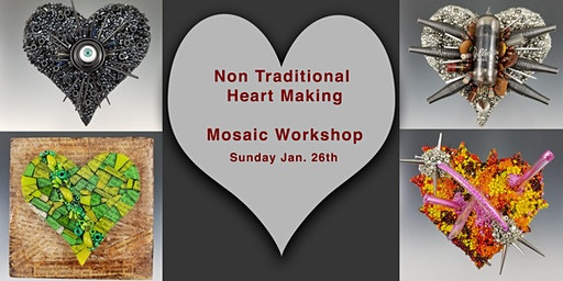 Non Traditional Mosaic Heart Workshop