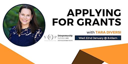 Applying for Grants Workshop (8:45am - 10am)