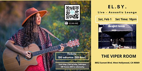 EL.SY. at The Viper Room - Sat, Feb 1 tickets