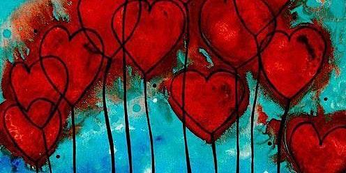 So Many Hearts - Acrylic Painting