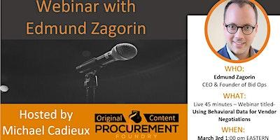 WebinarEdmund Zagorin speaks on Using Behavioral Data  Negotation