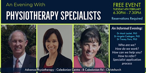 An Evening With Physiotherapy Specialists