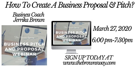 How To Create A Business Proposal & Pitch Webinar bilhetes