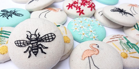 Make Your Own Embroidered Brooch tickets