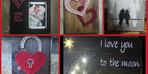 String Art class with Lisa Craft Cafe Andover NJ