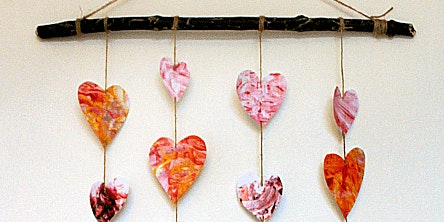 Valentines marble mobile
