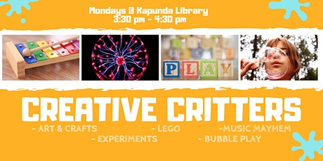 Creative Critters @ Community Room at Kapunda Library tickets