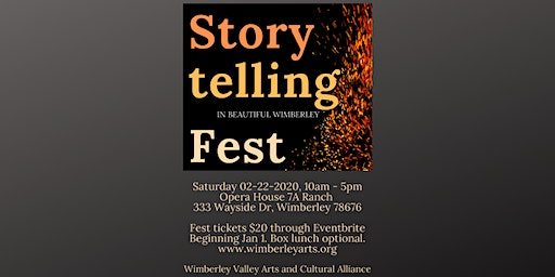 The Storytelling Fest in Beautiful Wimberley