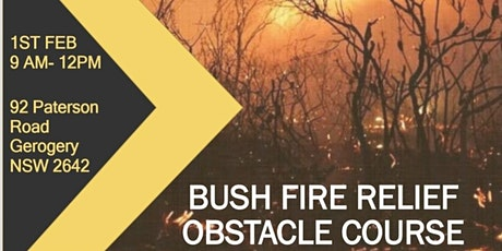 bush fire relief obstical course tickets