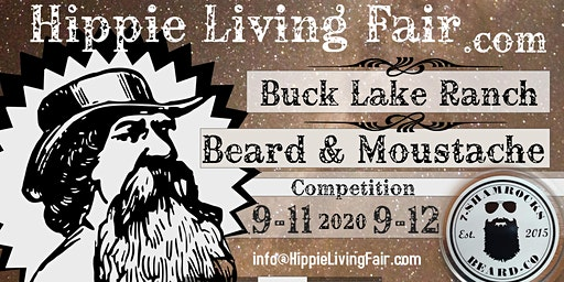 Hippie Living Fair Beard & Moustache Competition Entry Fee ADMIT 2
