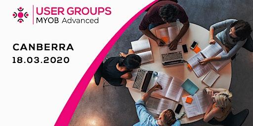 MYOB Advanced User Group   Canberra