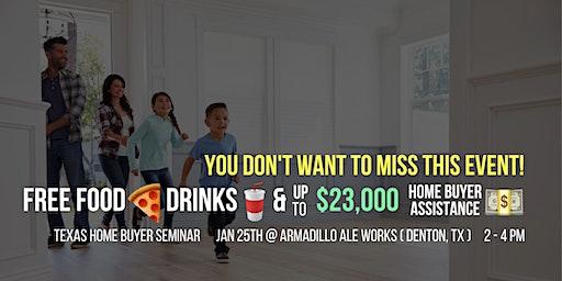 FREE Texas Home Buyer Seminar @ Armadillo Ale Works (Denton, TX) Jan. 25th
