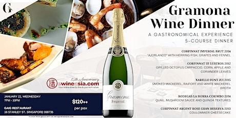 Gramona Wine Dinner @ GAIG Restaurant tickets