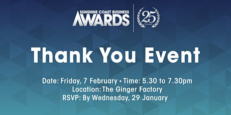 Thank You Event - Sunshine Coast Business Awards tickets
