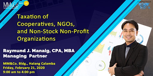 Taxation on Cooperatives, NGOs, and Non-Stock Non-Profit Organizations