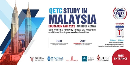 QETC Study in Malaysia Education Fair 2020 - Nairobi, Kenya.