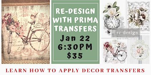 Re-design with Prima Transfers Make & Take Workshop