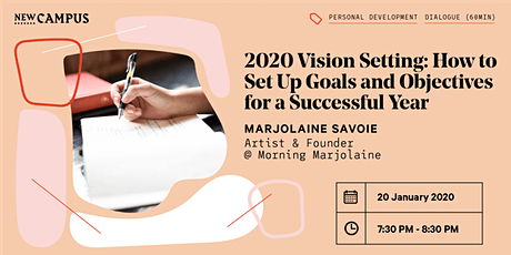 2020 Vision Setting: Set up Goals and Objectives for a Successful Year tickets