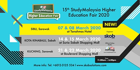 StudyMalaysia Higher Education Fair 2020 (SIBU) tickets
