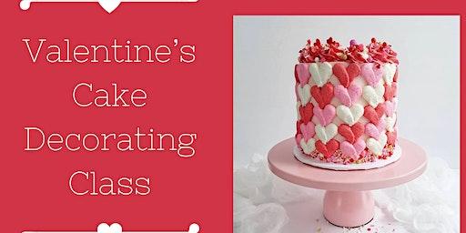 Valentine's Cake Decorating Class
