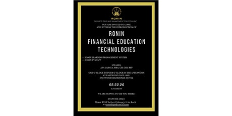 Introduction of Ronin Financial Education Tech.  tickets