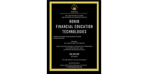 Introduction of Ronin Financial Education Tech.