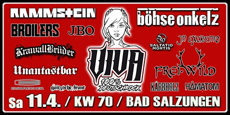 VIVA - 100% Deutschrock live / Bad Salzungen / KW 70 Tickets