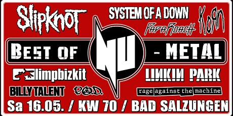 Best of NU-Metal 2020 / Liveshow / KW 70 / Bad Salzungen Tickets