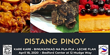 """Pistang Pinoy"" [Kare kare, Binukadkad na (flying) Pla-pla and Leche flan] Filipino Cooking Workshop tickets"
