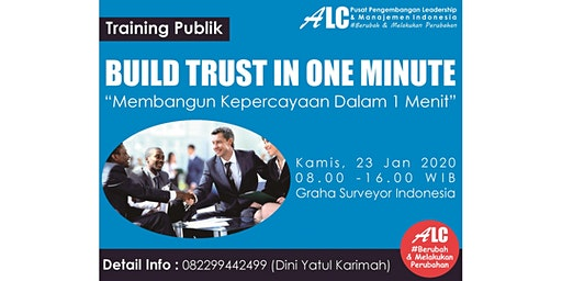 Build Trust In One Minute