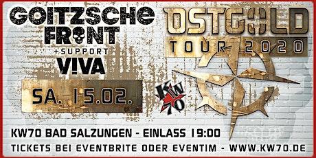 GOITZSCHE FRONT - OSTGOLD Tour 2020 - Bad Salzungen Tickets