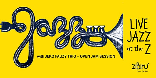 Live Jazz with Jeko Fauzy Trio + open jam/mic sessions